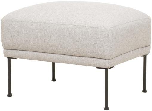 Sofa-Hocker Fluente in Beige mit Metall-Füßen