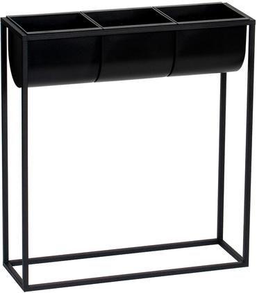 Übertopf-Set Bino aus Kunststoff und Metall, 4-tlg.