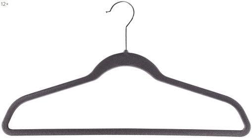 Kleiderbügel Grey Velvet, 12 Stück