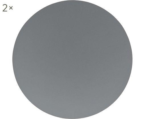 Runde Kunstleder-Tischsets Pik, 2 Stück