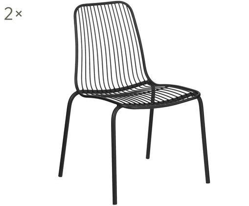 Gartenstühle Tirana aus Metall, 2 Stück