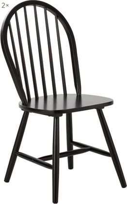 Windsor-Holzstühle Megan aus Holz, 2 Stück