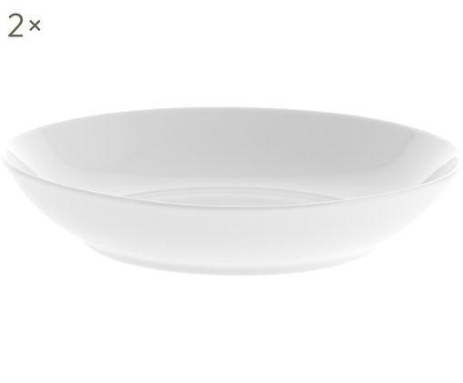 Porzellan-Suppenteller Delight Modern in Weiß, 2 Stück
