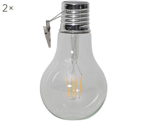 Décorations lumineuses solaires LED Fille, 2pièces, Transparent