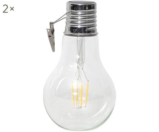Dekorativní solární LED svítidlo, Transparentní