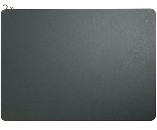 Set tovagliette in materiale sintetico Pik 2 pz, Materiale sintetico (PVC), Antracite, Larg. 33 x Lung. 46 cm