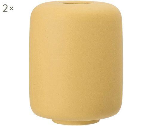 Vaso in terracotta Victoria 2 pz, Ceramica, Giallo, Ø 9 x Alt. 11 cm