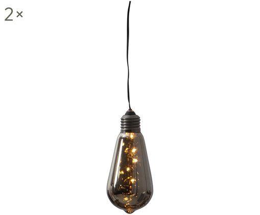 Lampa dekoracyjna z funkcją timera Glow, 2szt., Czarny