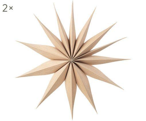 Decoratieve sterren Venok, 2 stuks, Lichtbruin