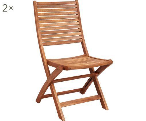 Krzesło składane Somerset, 2 szt., Drewno akacjowe, olejowane, Drewno akacjowe, S 50 x G 63 cm