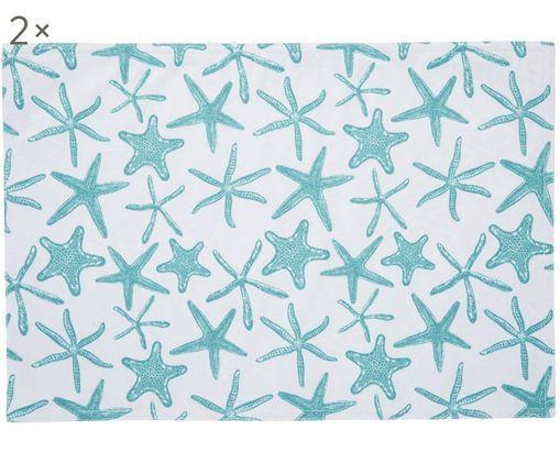 Podkładka Starbone, 2 szt., Poliester, Biały, niebieski, S 33 x D 48 cm