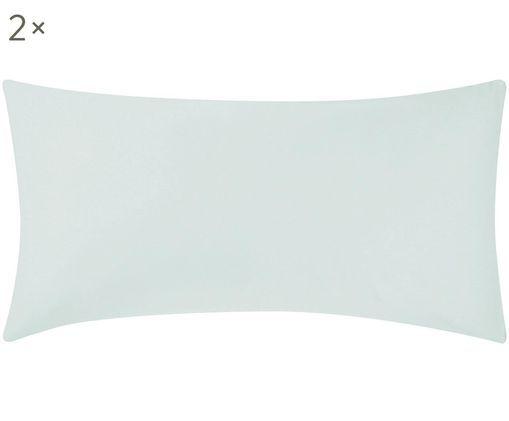 Poszewka na poduszkę z satyny bawełnianej Comfort, 2 szt., Jasny zielony, S 40 x D 80 cm