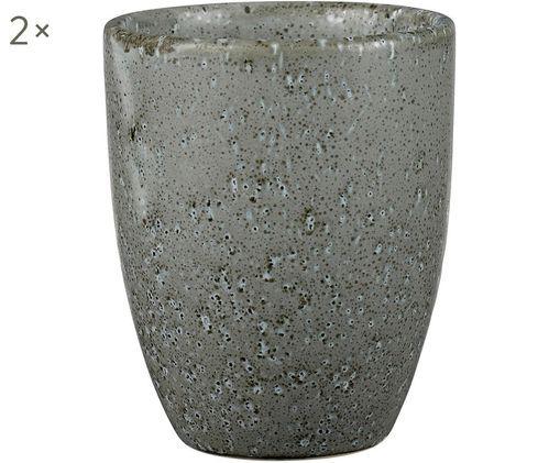 Becher Stone, 2 Stück, Grau