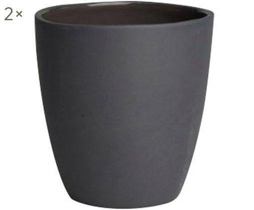 Becher Clay matt/glänzend, 2 Stück, Schwarz