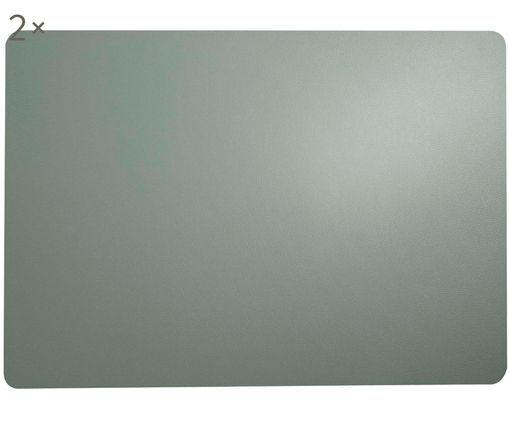 Podkładka z tworzywa sztucznego Pik, 2 szt., Tworzywo sztuczne (PVC) o wyglądzie skóry, Zielony miętowy, S 33 x D 46 cm