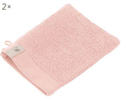 Waschlappen Soft Cotton, 2 Stück, Rosa, 16 x 21 cm