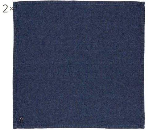 Tovaglietta Denim, 2 pz., Cotone, Blue jeans, Larg. 50 x Lung. 50 cm