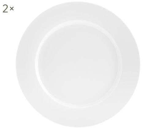 Speiseteller Delight Classic, 2 Stück, Porzellan, Weiß, Ø 27 cm