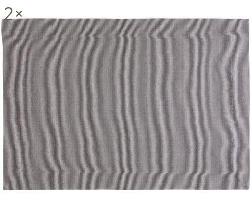 Podkładka Bombay, 2 szt., Bawełna, Szary, S 35 x D 50 cm