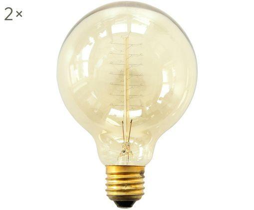 Leuchtmittel Thread (E27 / 40Watt) 2 Stück, Bernstein, transparent