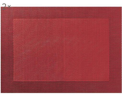 Podkładka  ze sztucznej skóry Trefl, 2 szt., Tworzywo sztuczne (PVC), Czerwony, S 33 x D 46 cm