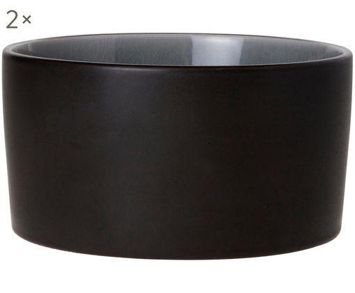 Schälchen Lagune Black, 2 Stück, Graubraun, Hellgrau