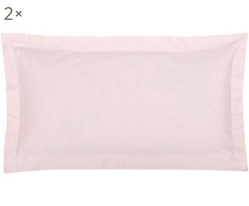 Poszewka na poduszkę z satyny bawełnianej Premium, 2 szt., Różowy, S 40 x D 80 cm