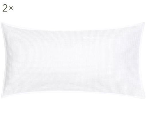 Dwustronna poszewka na poduszkę z piki Anita, 2 sztuki, Biały, S 40 x D 80 cm