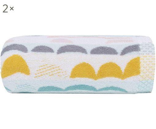 Toallas de tocador Bliss, 2uds., Blanco, multicolor, An 30 x L 50 cm