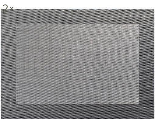 Set tovagliette in materiale sintetico Trefl 2 pz, Materiale sintetico (PVC), Tonalità grigie, Larg. 33 x Lung. 46 cm