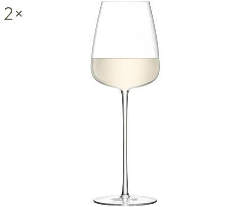 Mundgeblasene Weißweingläser Wine Culture, 2er-Set, Glas, Transparent, Ø 9 x H 26 cm