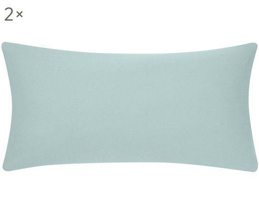 Poszewka na poduszkę ze skóry z flaneli Biba, 2 szt., Zielony miętowy, S 40 x D 80 cm