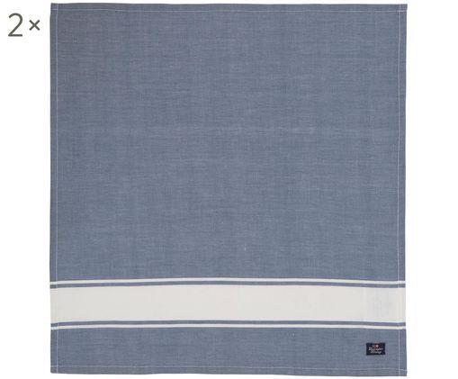 Tovagliette Marinna, 2 pz., Blu, bianco