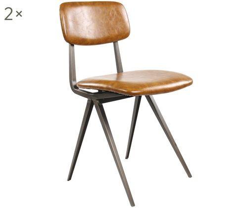 Krzesło Arthur, 2 szt., Brązowy