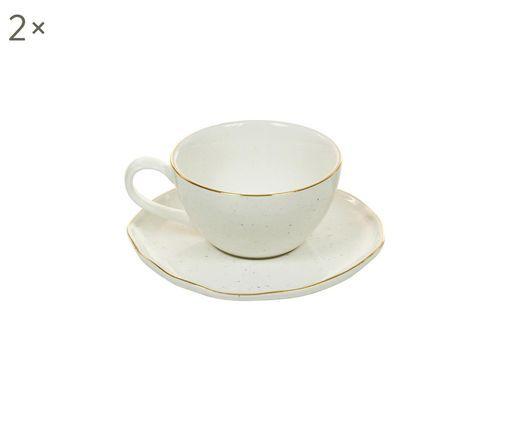 Tasses à espresso faites à la main Bol, 4élém., Blanc crème