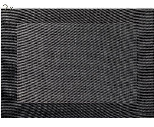 Set tovagliette in materiale sintetico Trefl 2 pz, Materiale sintetico (PVC), Grigio scuro, antracite, Larg. 33 x Lung. 46 cm