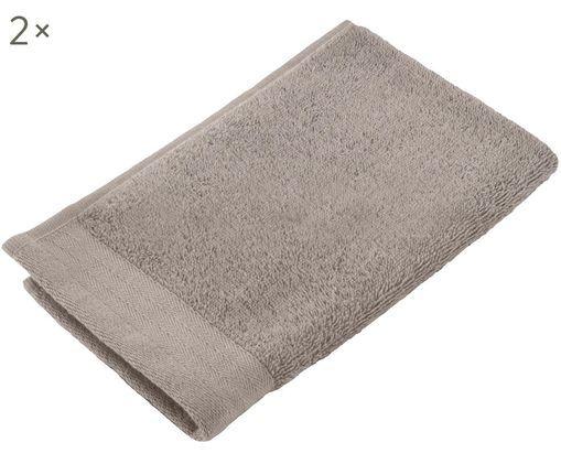Gästehandtücher Soft Cotton, 2 Stück, Taupe, 30 x 50 cm