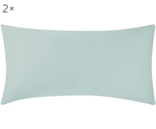 Poszewka na poduszkę z satyny bawełnianej Comfort, 2 szt., Zielony, S 40 x D 80 cm