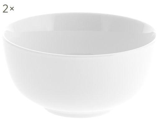 Schälchen Delight, 2 Stück, Porzellan, Weiß, Ø 14 x H 7 cm