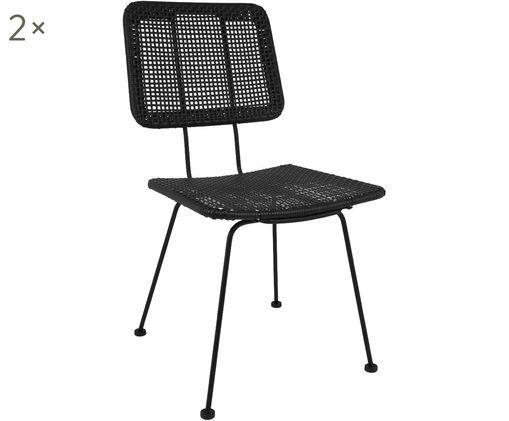 Stühle Cancun, 2 Stück, Schwarz
