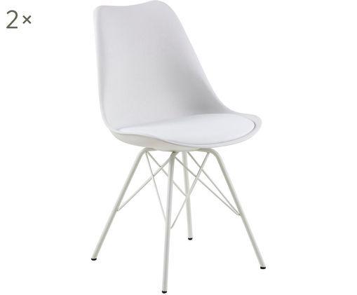 Sedia in materiale sintetico Eris, 2 pz., Bianco