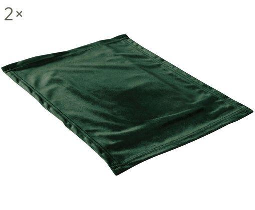 Manteles individuales de terciopelo Simone, 2uds., Verde