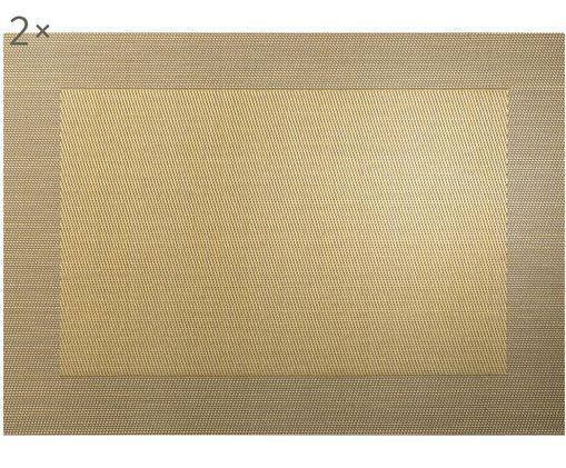 Set tovagliette in materiale sintetico Trefl 2 pz, Materiale sintetico (PVC), Dorato, Larg. 33 x Lung. 46 cm