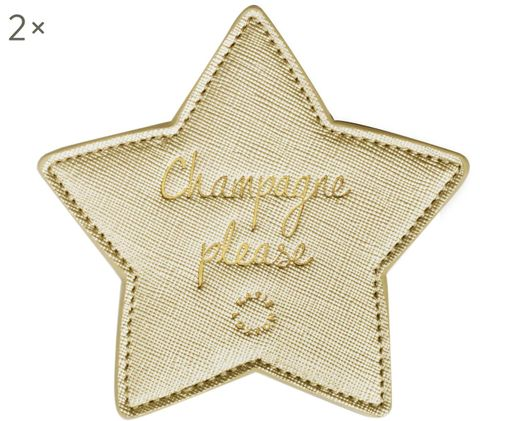 Sous-verre Champagne Please, 2pièces, Couleur dorée