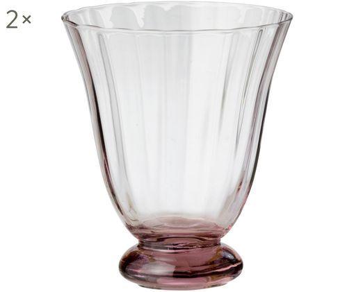 Weingläser Trellis ohne Stiel, 2er-Set, Glas, Lila, Ø 8 x H 11 cm
