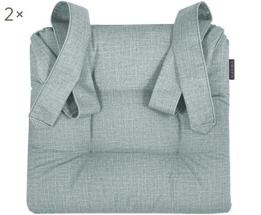 Sitzkissen Dina, 2 Stück, Graugrün