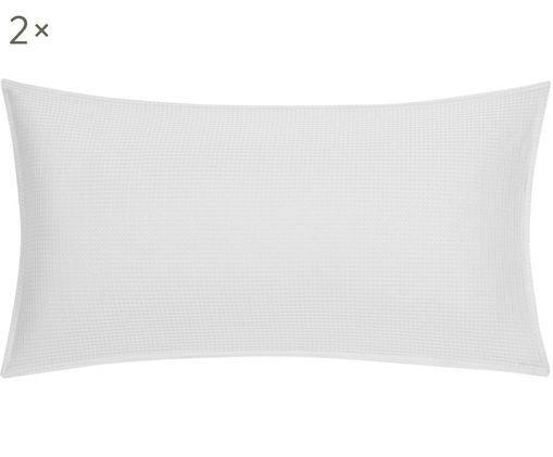 Dwustronna poszewka na poduszkę z piki Anita, 2 sztuki, Jasny szary, S 40 x D 80 cm