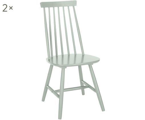 Holzstühle Milas, 2 Stück, Salbeigrün