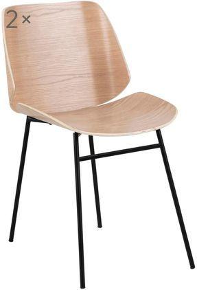Holzstühle Aks, 2 Stück