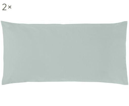 Perkal-Kissenbezüge Elsie in Salbeigrün, 2 Stück, Webart: Perkal, Salbeigrün, 40 x 80 cm